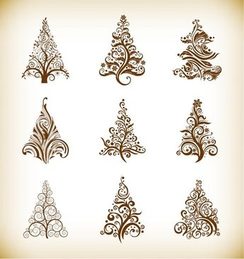 Vector Set of Christmas Trees