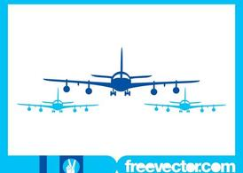 Airplanes Silhouettes Graphics