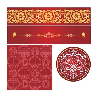 Chinese Style Pattern Vector Chinese
