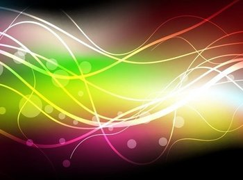 Abstract Colorful Dark Background