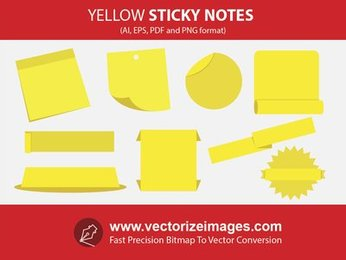 Sticky Notes and Banners with Wrinkles