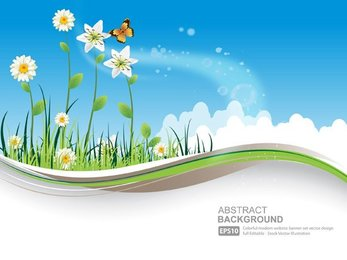 Natural background vector-6
