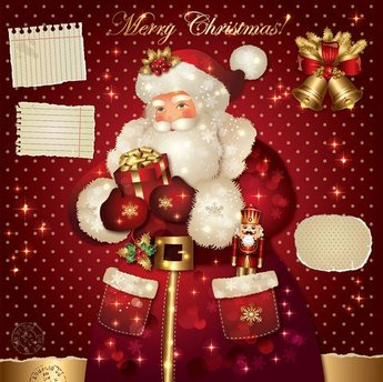 Santa Claus greetings card vector-2