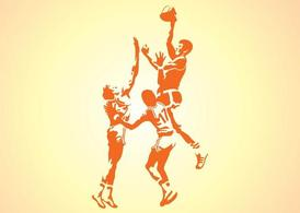 Silhouettes Of Basketball Players