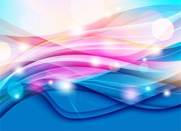 Color Waves Design Abstract