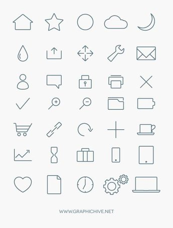 Stylized Minimalist Icon Collection (Vector)