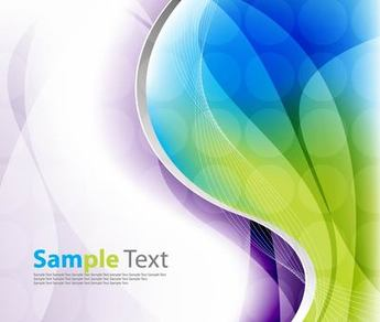 Colorful Wave and Spiral Line Background