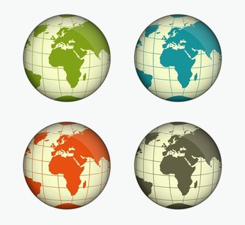 Green, Blue, Yellow And Gray Globe