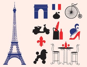 Paris Icons & Silhouette Vectors (Free)