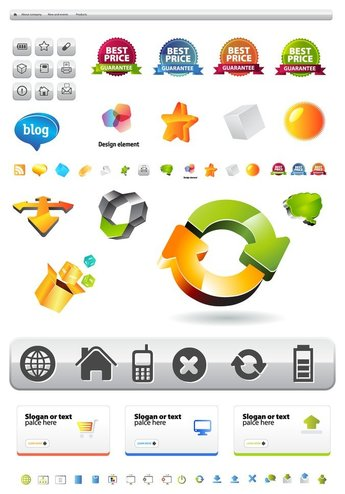 site layout and icons
