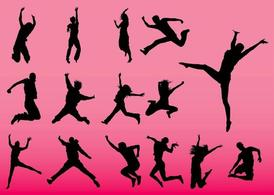 Jumping People Vectors