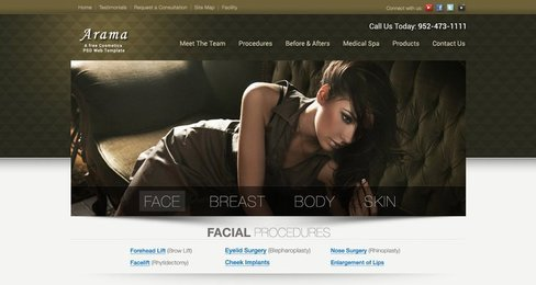 Arama Free Plastic Surgeon Website
