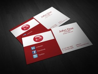 Abstract 2 Fold Corporate Business Card