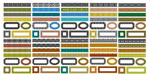 Variety Of Classical Material Lace -1 Vector Series