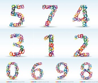 Vector numbers of digits