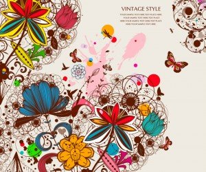Creative vintage floral background