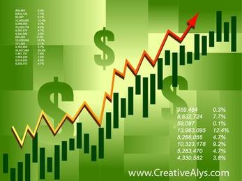 Green Financial Stock Infographic Background