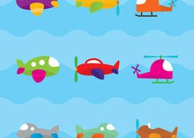 Cute Airplane Vectors