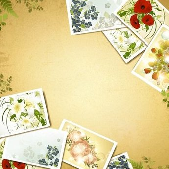 Vintage Background with Floral Photograph