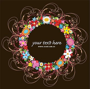 Lovely wreath vector material trends