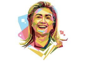 Free Hilary Clinton Vector Portrait