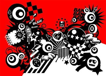 With the tide of red and black design elements