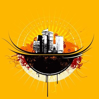 Urban Theme Vector material the tide of