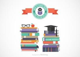 Free Vector Stack Of School Books