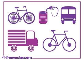 Transport Icons Vectors