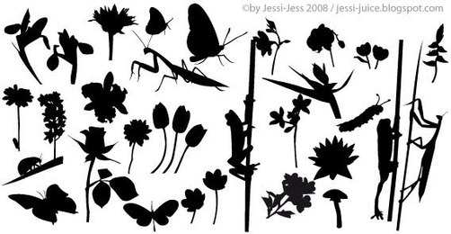 Free Vector Plant Silhouettes