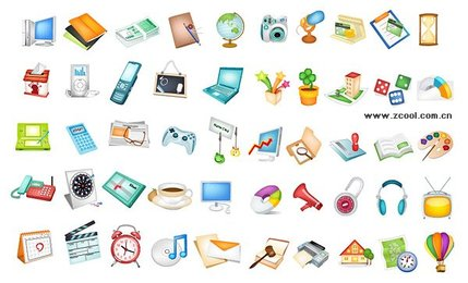 Utility icon vector material commonly used items
