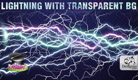 Lightning with transparent background