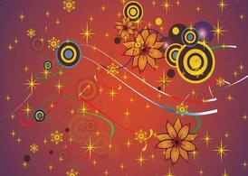Vector Flowers Background Graphics