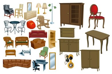 Variety of furniture, material furniture