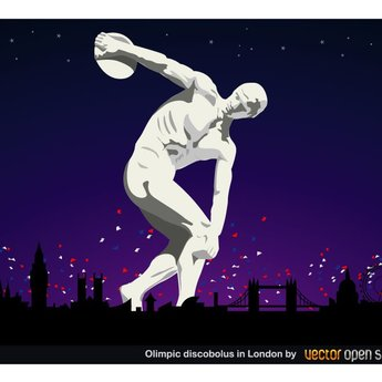 OLYMPIC DISCOBOLUS VECTOR IMAGE.ai
