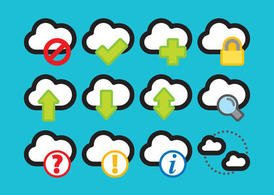 Colorful Cloud Computing Vector Icons
