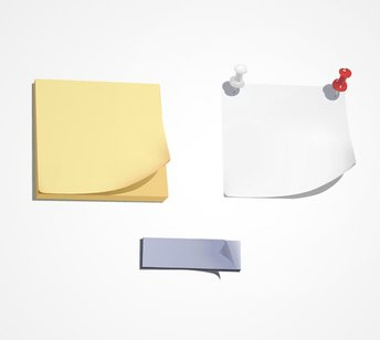 Post-It Notes With Pins