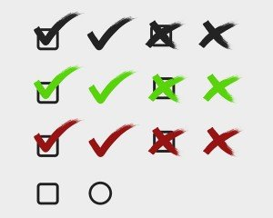 Free Vector Check marks tick and cross