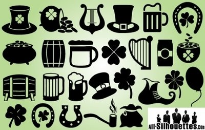 Feast of Saint Patrick Symbol Pack