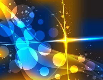 Colorful Abstract Bokeh Bubbles Dynamic Background
