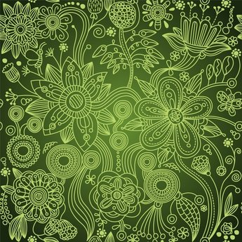 Green Floral Seamless