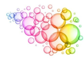 Abstract Colorful Bubbles Background