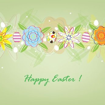 SWEET EASTER CARD VECTOR.ai
