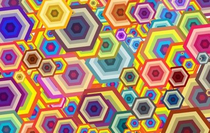 Polygon Background Colorful Different Shape