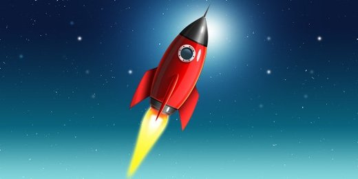 Space rocket icon (PSD)