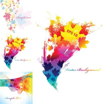 Colorful background of leaves Vector elements