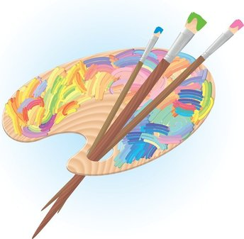 Palette And Brushes
