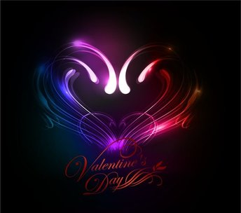 Abstract Valentines Day Colorful Heart Background