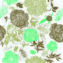 Retro Grungy Seamless Floral Pattern