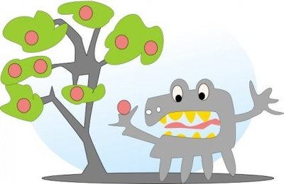 Salvor Tree With Apples And A Monster